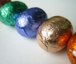 How can I reuse or recycle excessive Easter egg packaging?