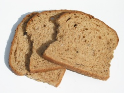 Slices of brown, multigrain bread