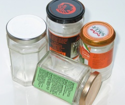 How can I reuse or recycle old jars?