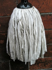 How can I reuse or recycle … old mop heads?
