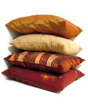 A pile of cushions