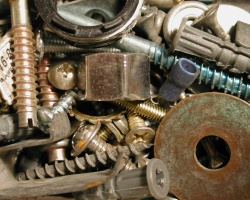 How can I reuse or recycle … rusty screws, nails and assorted bits?