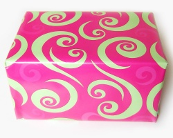Gift wrapped in wrapping paper