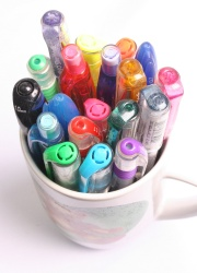 How can I reuse or recycle (or rescue) … dried up pens?