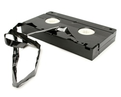 How can I reuse or recycle VHS video tapes?