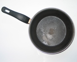 How can I reuse or recycle … old frying pans?
