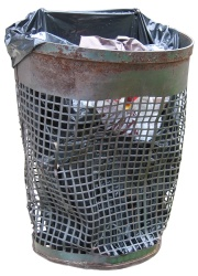 How can I reuse or recycle … an old wire waste paper bin?