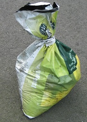 How can I reuse or recycle … empty plastic compost/grow bags?