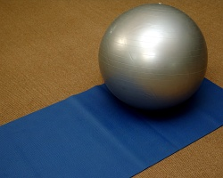 Yoga mat and ball