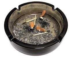 How can I reuse or recycle old ashtrays?
