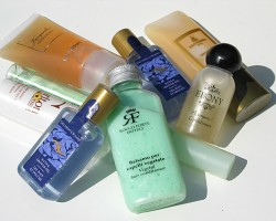 How can I reuse or recycle hotel shampoo bottles?