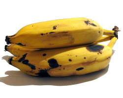 How can I reuse or recycle very brown bananas?