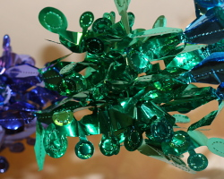How can I reuse or recycle tinsel and Christmas decorations?