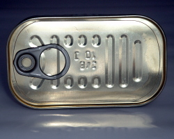 How can I reuse or recycle sardine tins?