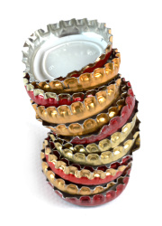 How can I reuse or recycle beer bottle caps?