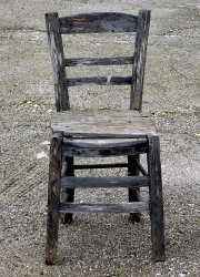 How can I reuse or recycle broken chairs?