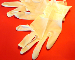 How can I reuse or recycle used disposable Latex gloves?