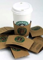 How can I reuse or recycle cardboard cup sleeves?