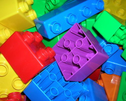How can I reuse or recycle chunky Lego bricks?