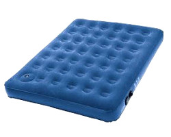 How can I reuse or recycle an old PVC airbed?