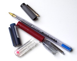 How can I reuse or recycle pen lids?