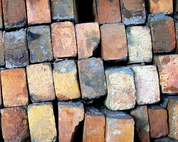 How can I reuse or recycle broken bricks?