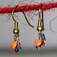 earrings out of recycled electronics