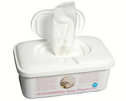 How can I reuse or recycle baby wipe containers?