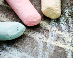 How can I reuse or recycle chalk?