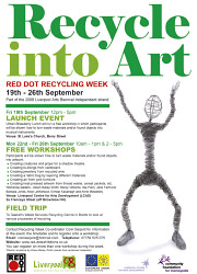 Recycle into art – a week of workshops in Liverpool