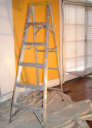 How can I reuse or recycle a broken step ladder?