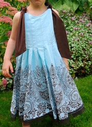 A skirt turned into a child's dress