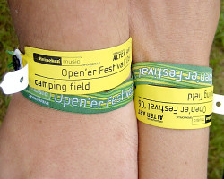 How can I reuse or recycle festival wrist bands?