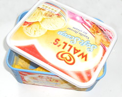 How can I redecorate ice cream tubs so I can reuse them around the home?