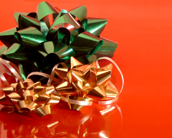 How can I reuse or recycle Christmas gift wrap bows?
