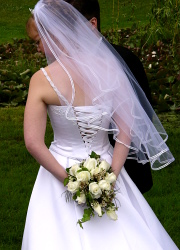 How can I reuse or recycle a wedding dress?