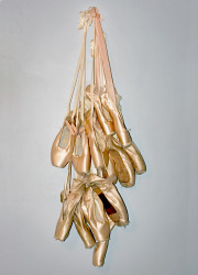 How can I reuse or recycle ballet shoes and pointe shoes?