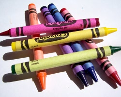 How can I reuse or recycle old crayons?