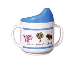 How can I reuse or recycle a baby's sippy cup?