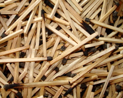 How can I reuse or recycle burned matchsticks?