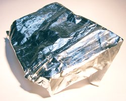 How can I reuse or recycle aluminium foil for charity?