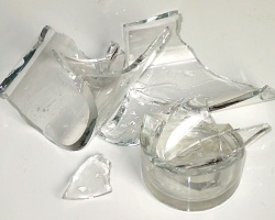 How can I reuse or recycle a broken glass?