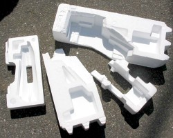 How can I reuse or recycle moulded polystyrene?