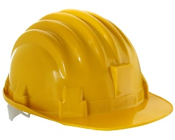 How can I reuse or recycle yellow hard hats?