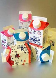 How can I reuse or recycle … school milk cartons?