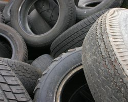 How can I reuse or recycle old used tyres (tires)?