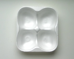 How can I reuse or recycle … shaped foam fruit trays?