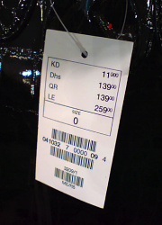 Price Tags, Clothes Merchandise Marking White Paper ... |Price Tags For Clothing