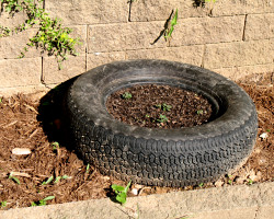 planters for the garden used tyres - Garden Ideas Using Tyres