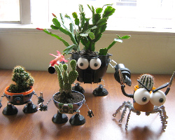 And ... & Plastic bottle creations recycled robot plant pots fairtrade paper ...